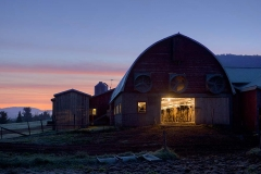 Bye Brook Farm at Dusk