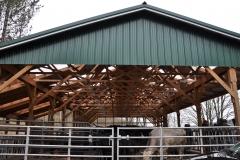 Covered barnyard at Mallaber Farm