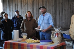 Gwen and Paul Deysenroth with their Gouda cheese samples