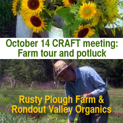 Catskills CRAFT Meeting at Rusty Plough Farm on October 2013