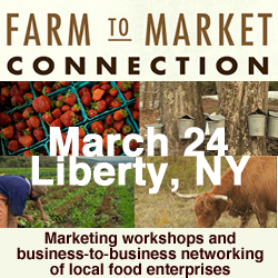 Farm to Market Conference: Pure Catskills metal member sign free with membership renewal