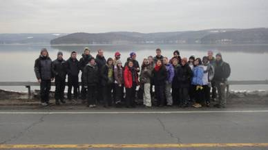 Hunter College students at Ashokan Reservoir